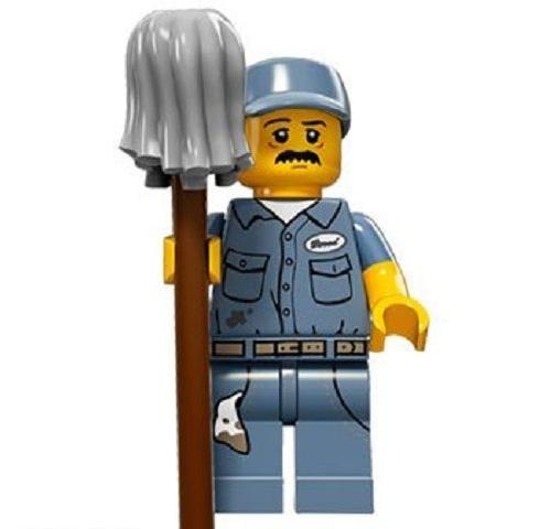 Janitor Lego Minifigure from Series 15 Minifigures