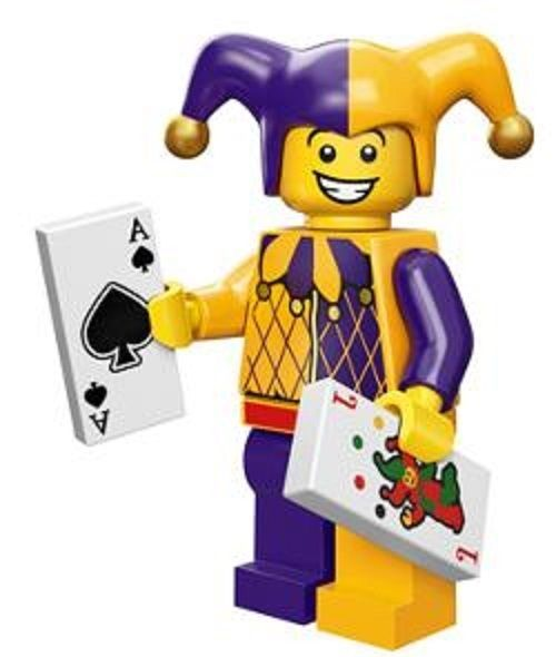 Jester Lego Minifigure from Series 12 Collectible Minifigures