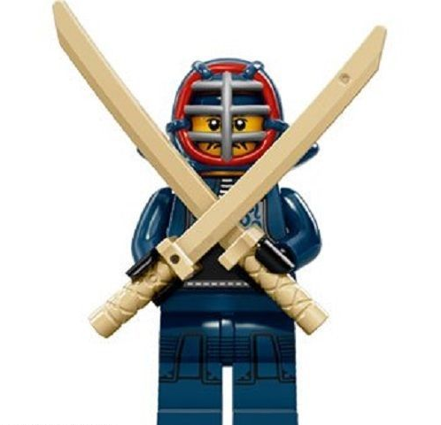 Kendo Fighter Lego Minifigure from Series 15 Minifigures