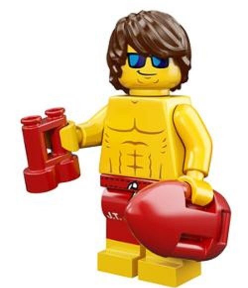 Lifeguard Lego Minifigure from Series 12 Collectible Minifigures