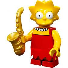 Lisa Simpson Lego Minifigure from Series 1 Simpsons Minifigures