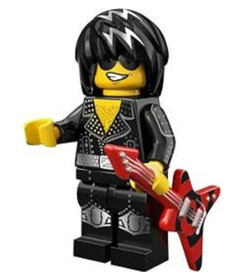 Rock Star Lego Minifigure from Series 12 Collectible Minifigures